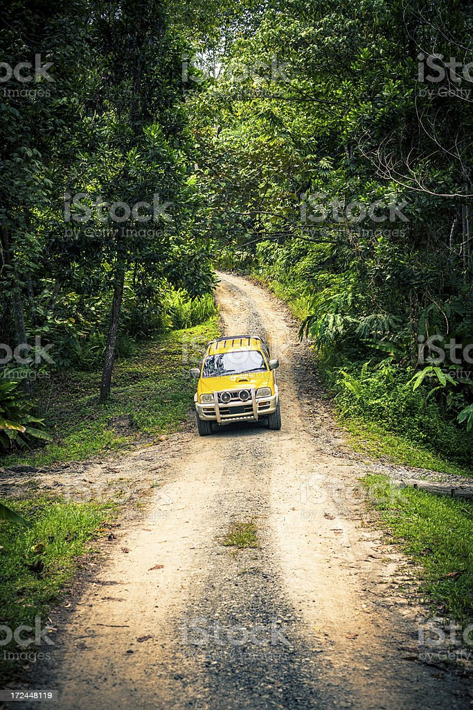 Off-Road  Jeep in the Jungle stock photo