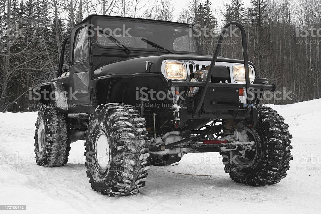 Offroad Jeep stock photo