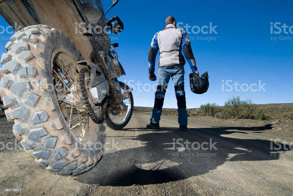off-road motorcycle trip stock photo