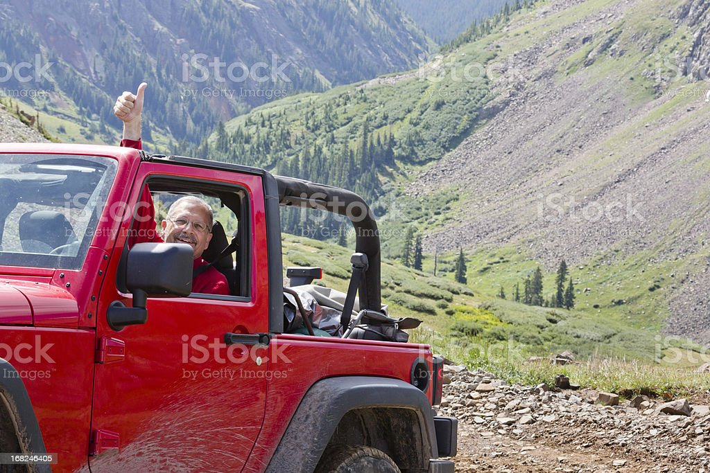 offroad mountain adventure stock photo