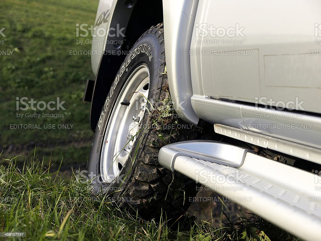 Off-road tire royalty-free stock photo