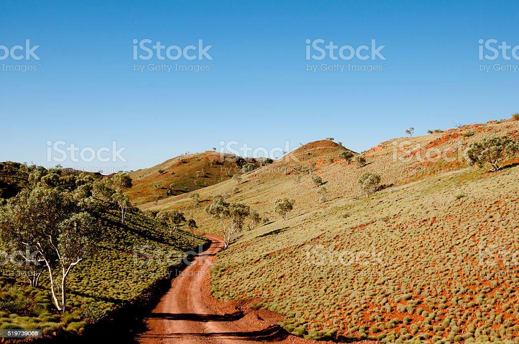 Offroad Track - Outback Australia stock photo
