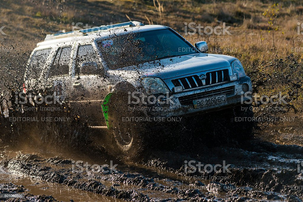 Off-road vehicle brand Great Wall overcomes the tack stock photo