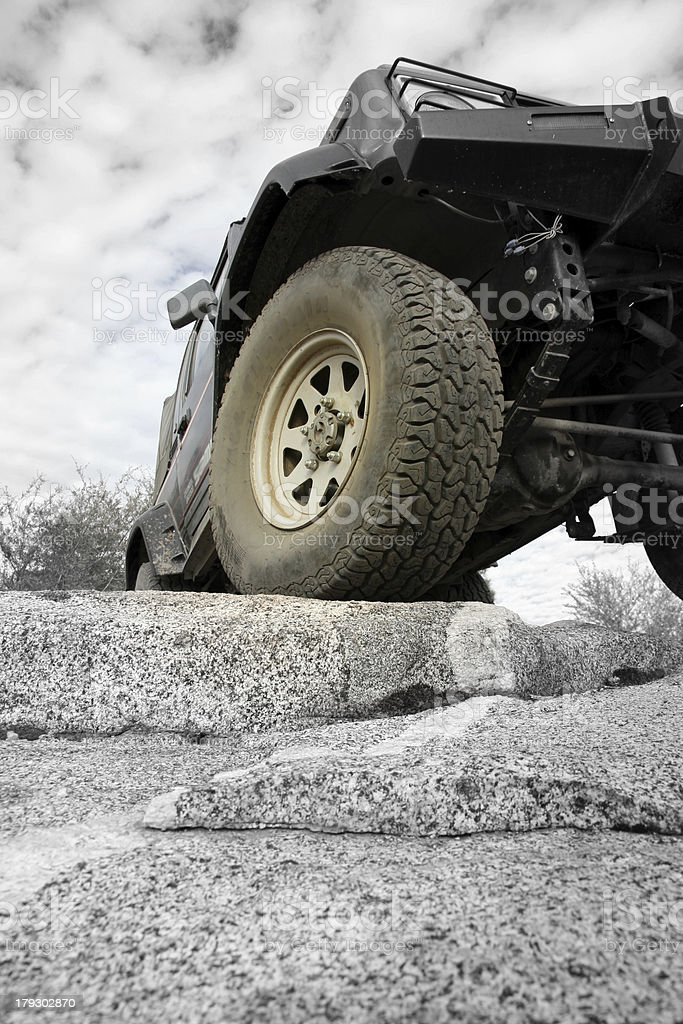 Offroading on rock royalty-free stock photo