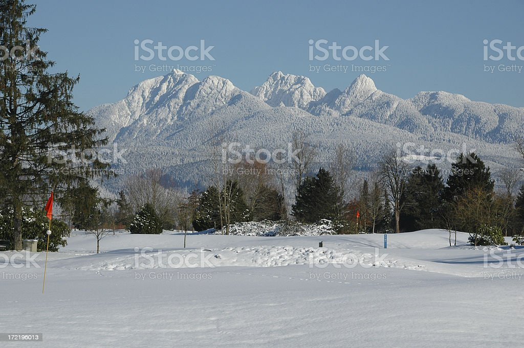 Offseason Golf Course stock photo