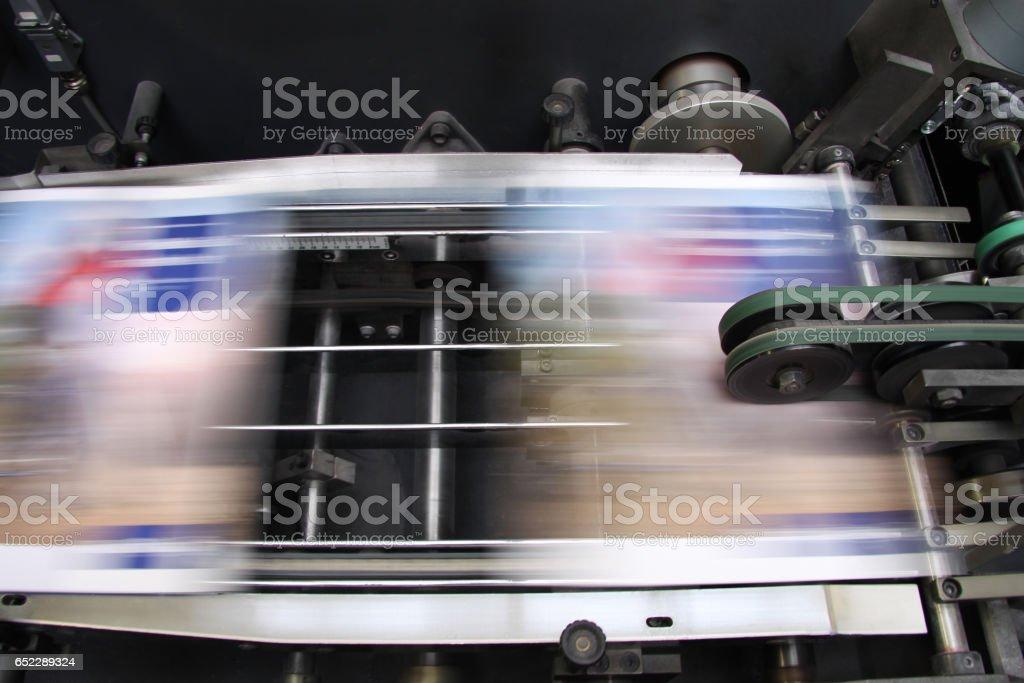 Offset machine - Press printing stock photo