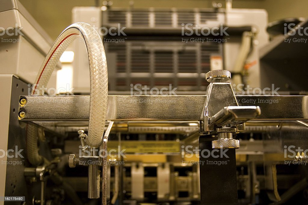 Offset Press Paper Feed royalty-free stock photo
