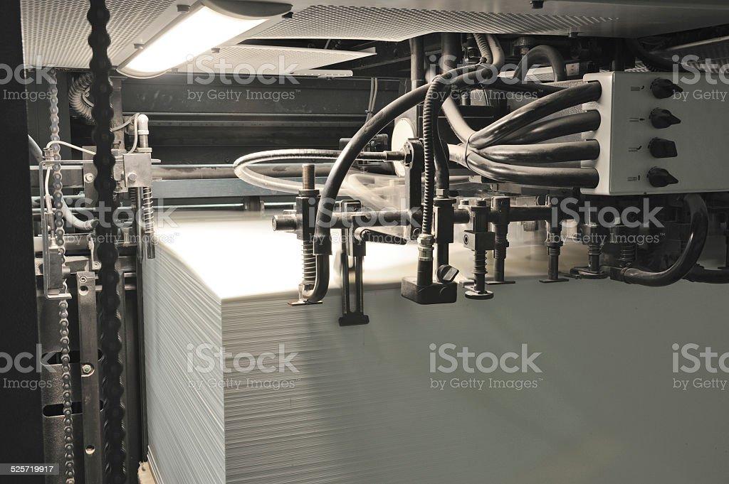 offset press printing, detail stock photo