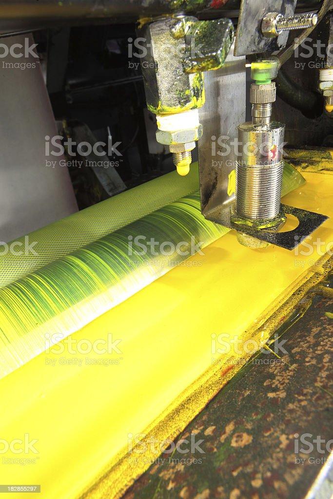Offset printing machine royalty-free stock photo
