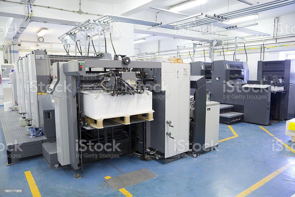 Offset printing machine stock photo