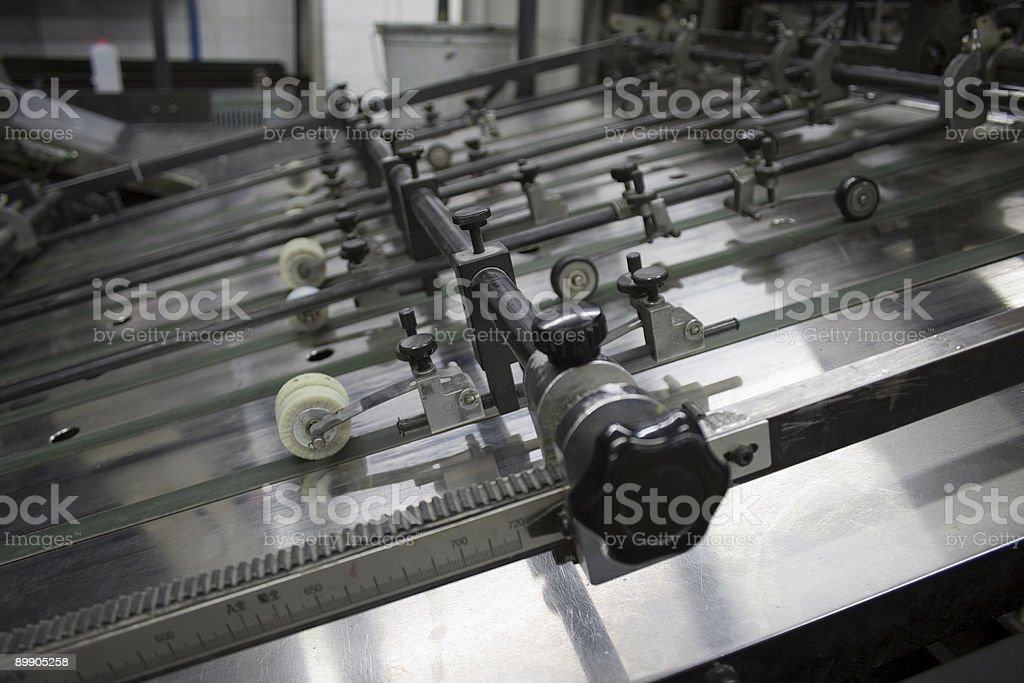 Offset printing machine stock photo
