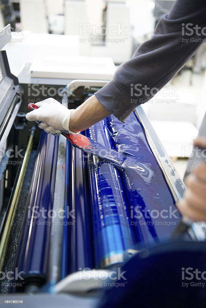 Offset Printing stock photo