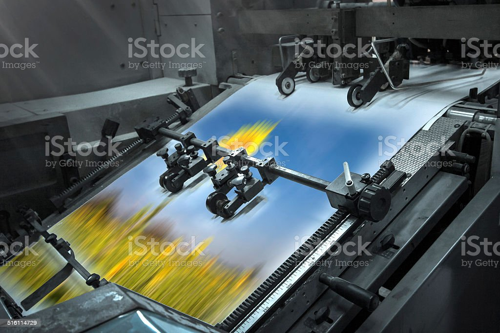 Offset Printing process stock photo