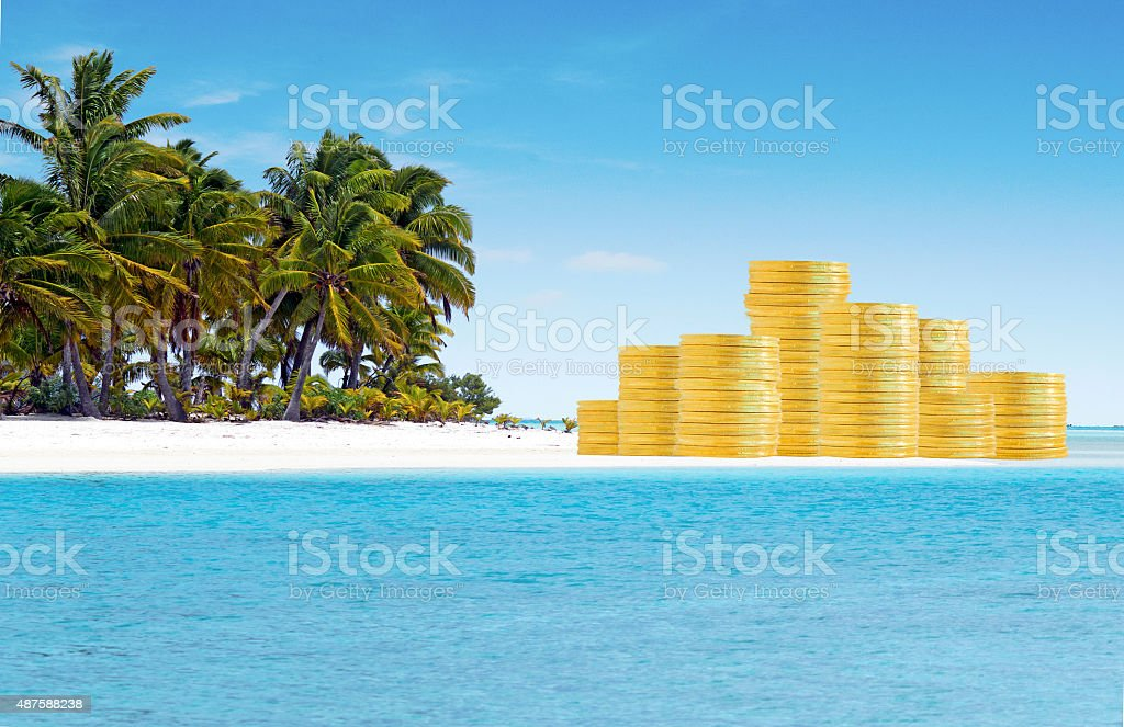 Offshore Banking and Tax Havens Concept stock photo
