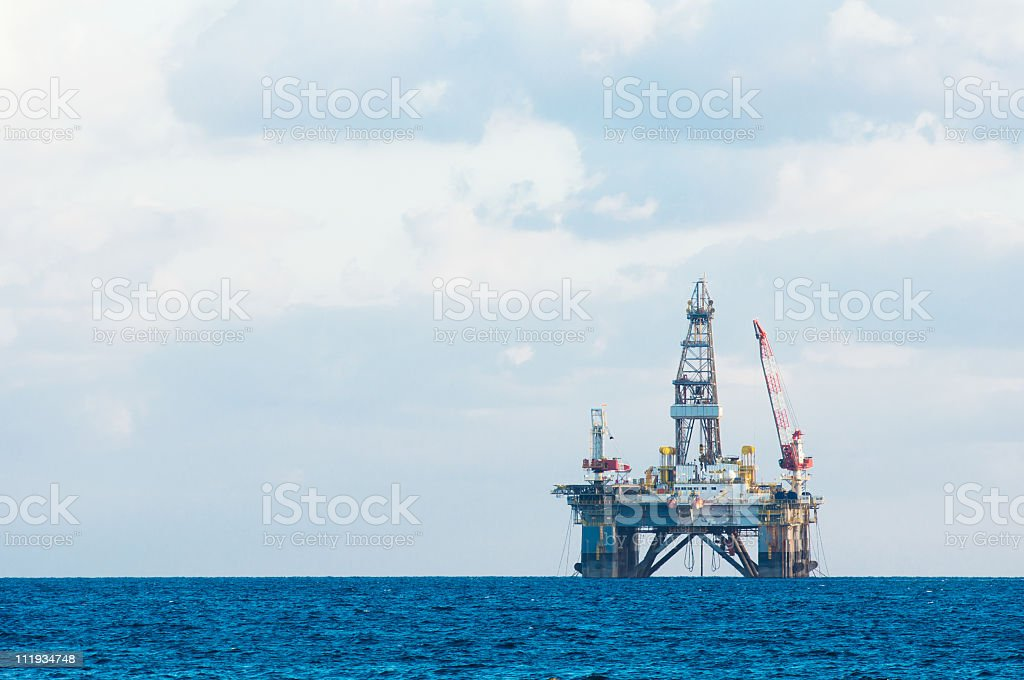 Offshore Drilling Platform royalty-free stock photo