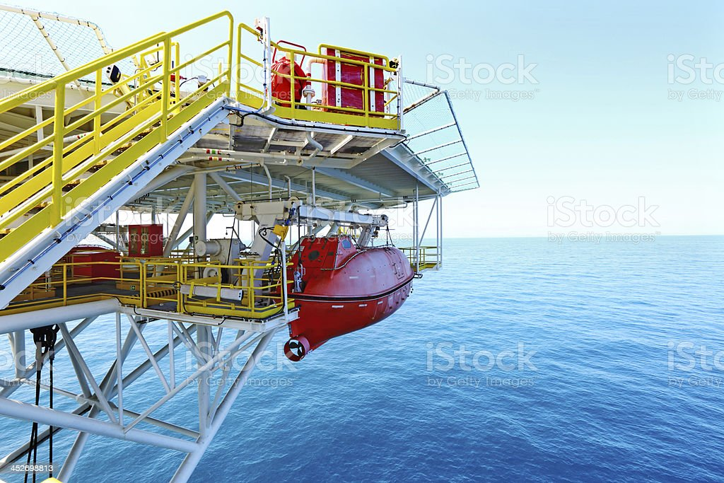 Offshore drilling rig royalty-free stock photo