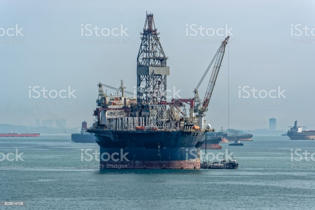 Offshore Drilling rig stock photo