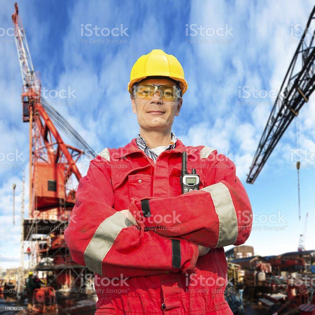 Offshore engineer stock photo