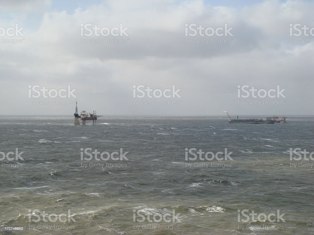 Offshore Field stock photo