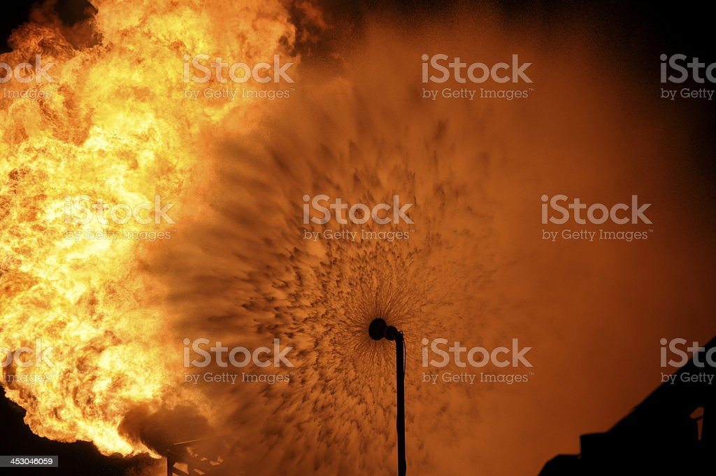 Offshore Flare stock photo