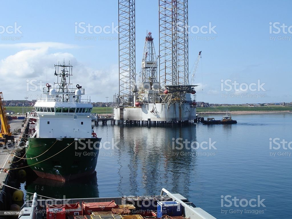 Offshore Harbour stock photo