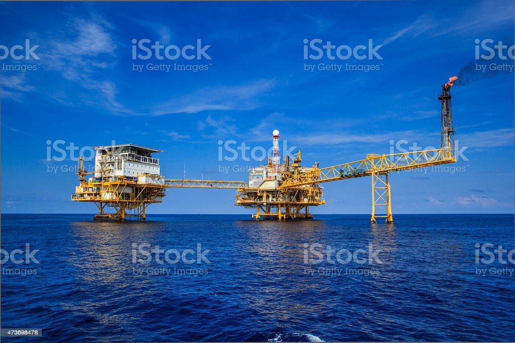 Offshore Industry oil and gas stock photo