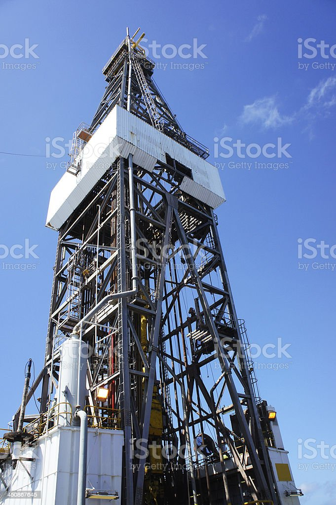 Offshore Jack Up Drilling Oil Rig royalty-free stock photo