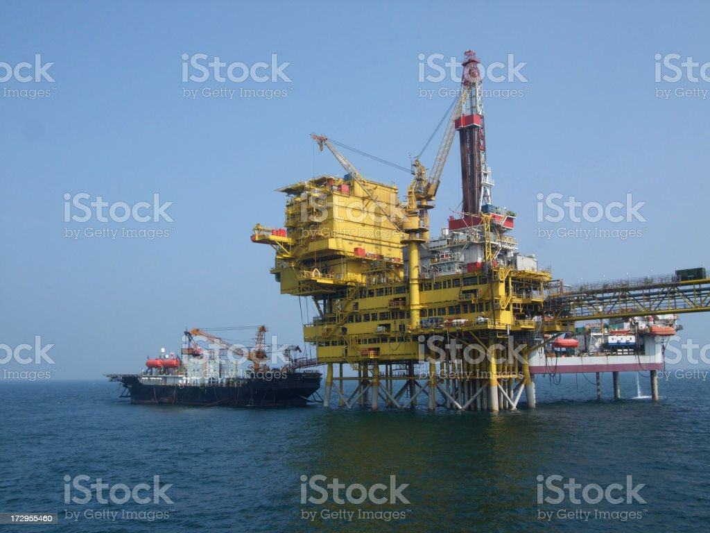 Offshore Oil Exploration stock photo