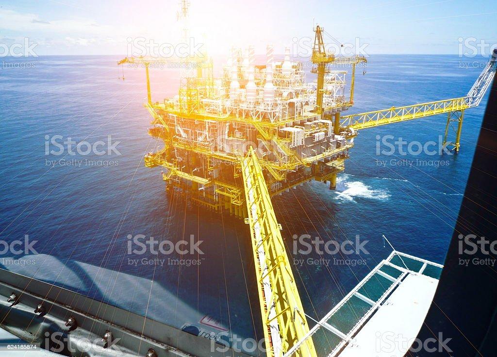 Offshore Oil & Gas central process platform stock photo