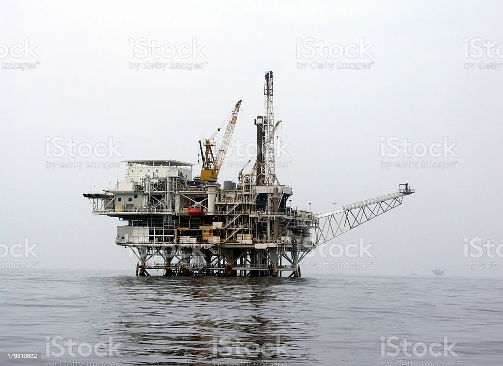 offshore oil platform royalty-free stock photo
