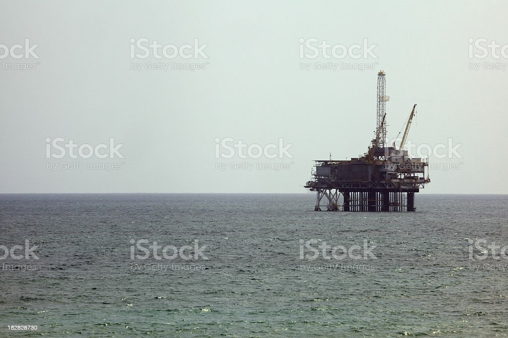 Offshore Oil Rig Drilling Platform, Environmental Disaster, Ocean royalty-free stock photo