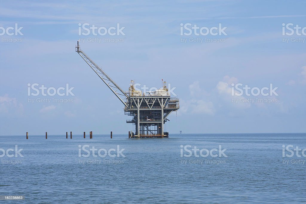 Offshore Oil Rig Drilling Platform royalty-free stock photo