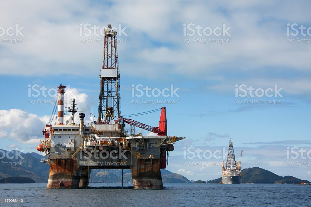 Offshore Oil Rig royalty-free stock photo