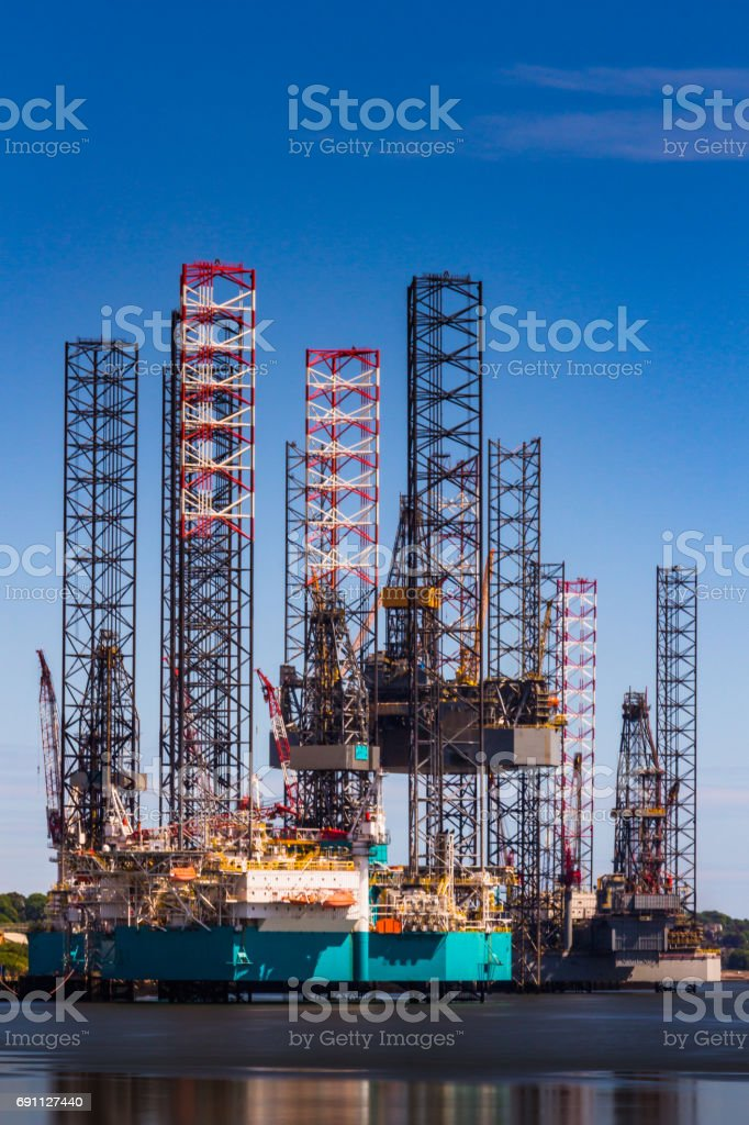 Offshore Oil Rig Yard stock photo