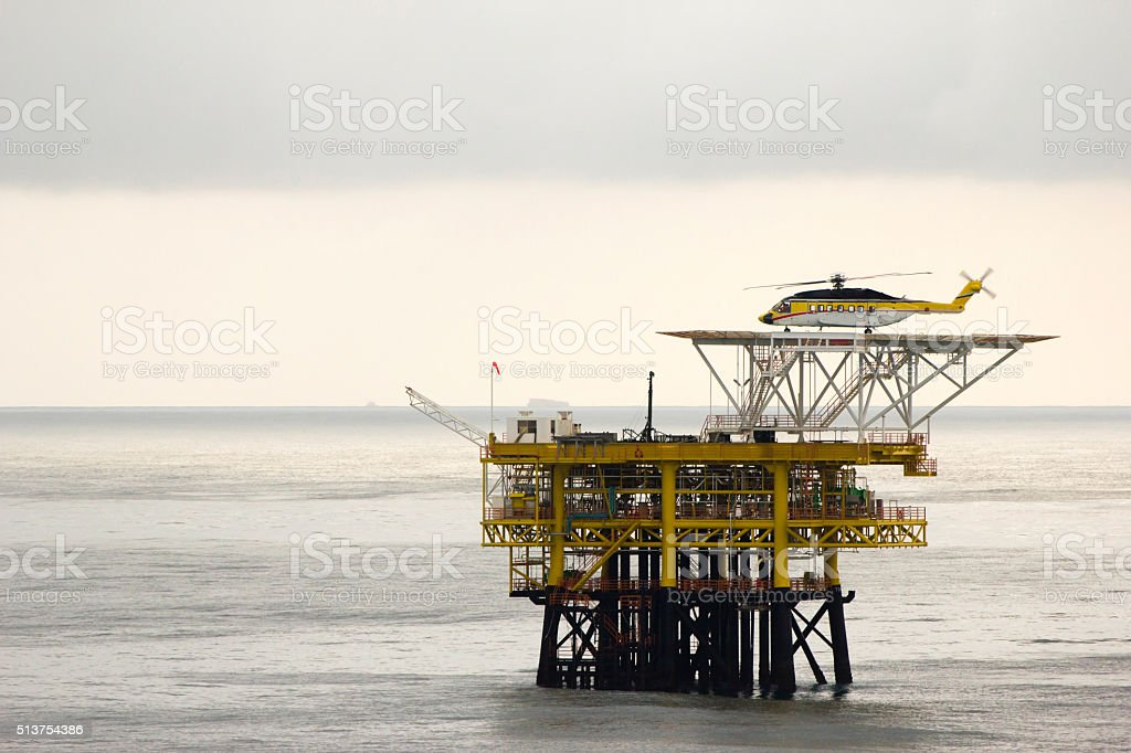 Offshore oil-platform stock photo