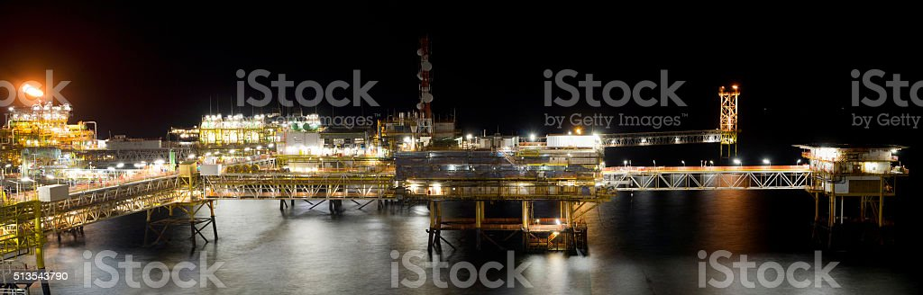 Offshore platform stock photo