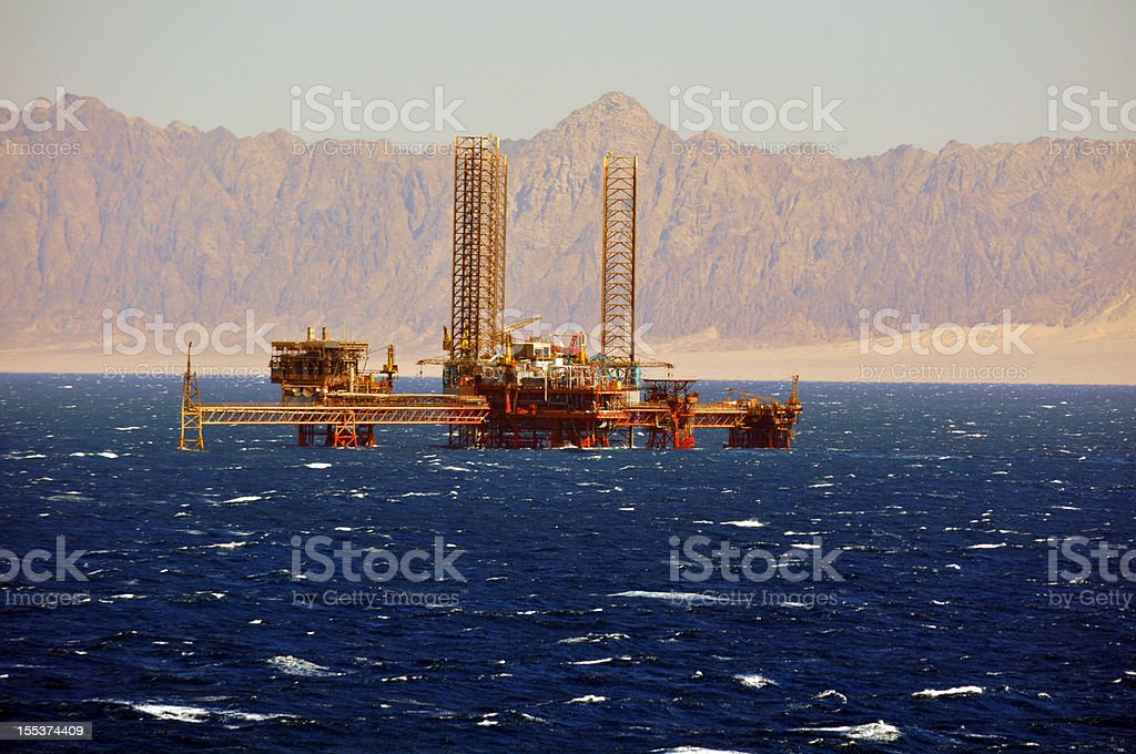 Offshore Production platform royalty-free stock photo