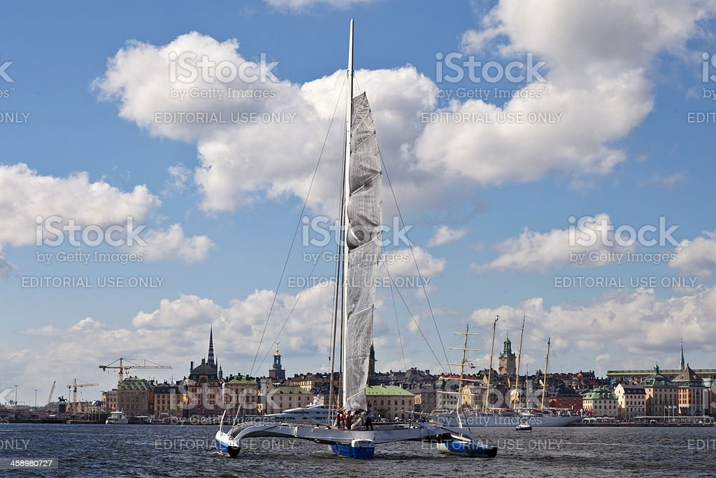 Offshore Race: Round Gotland starts in Stockholm. stock photo