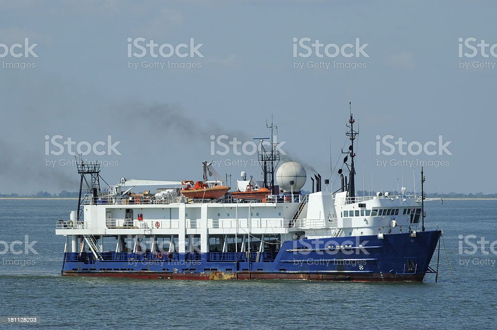 offshore research vessel stock photo