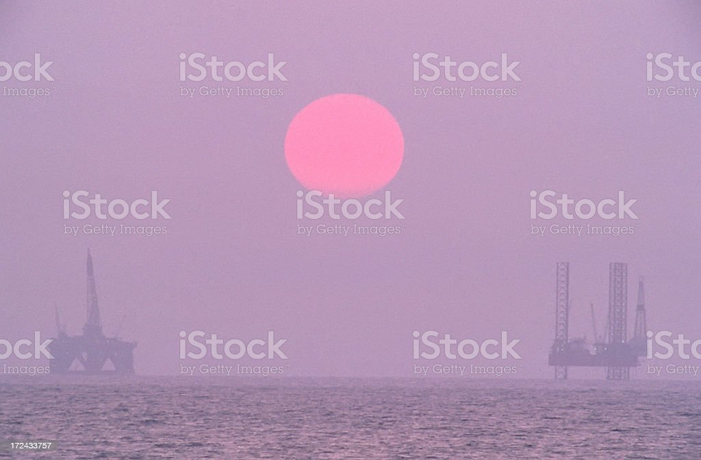 Offshore Rigs stock photo