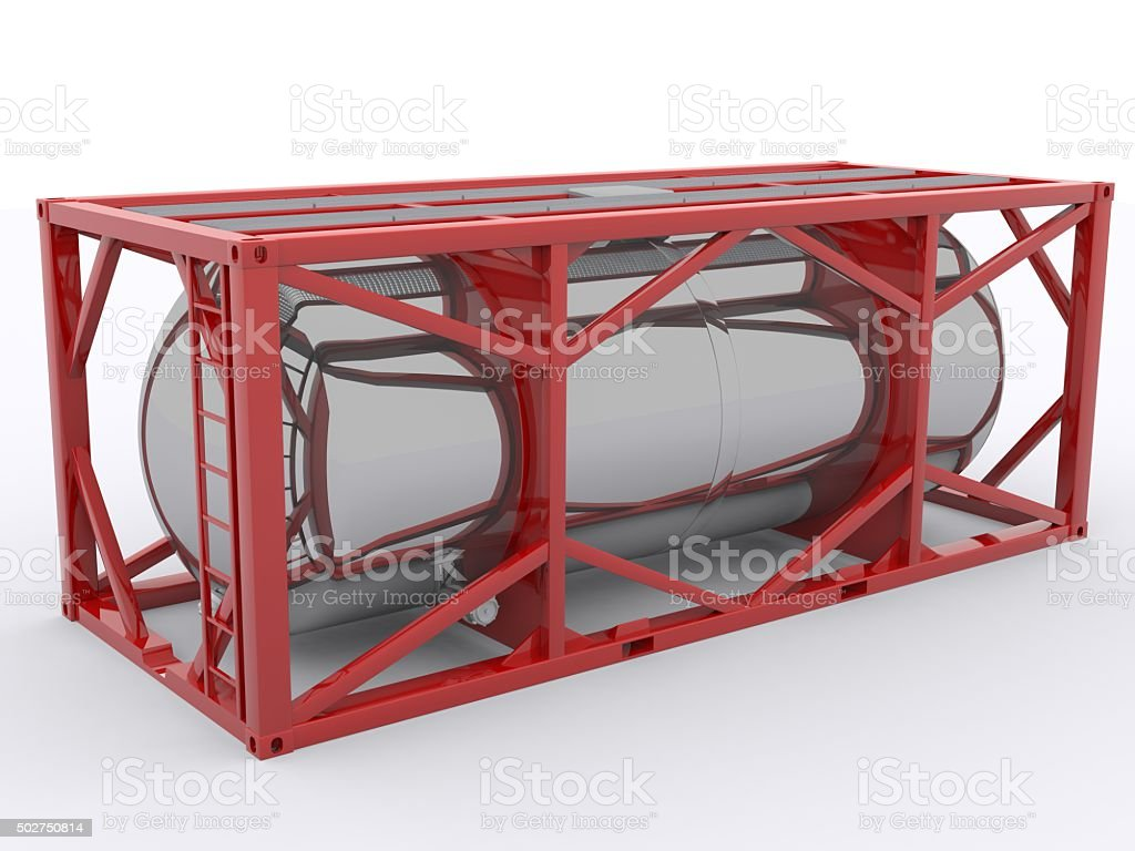 Offshore Tank Container stock photo