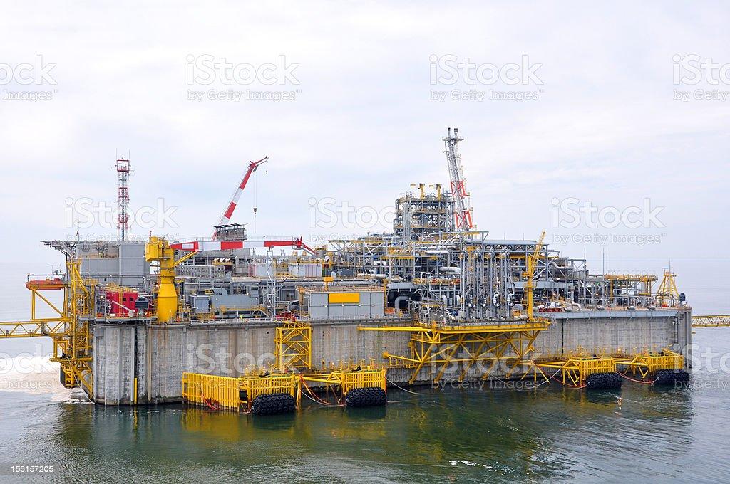 LNG Offshore Terminal stock photo
