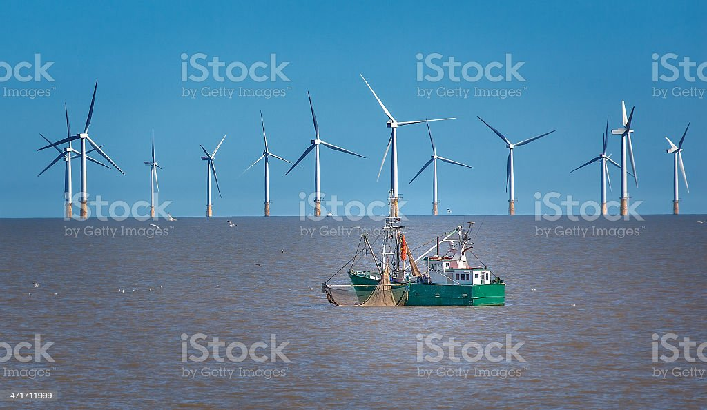 Offshore wind farm in New Jersey, United States stock photo