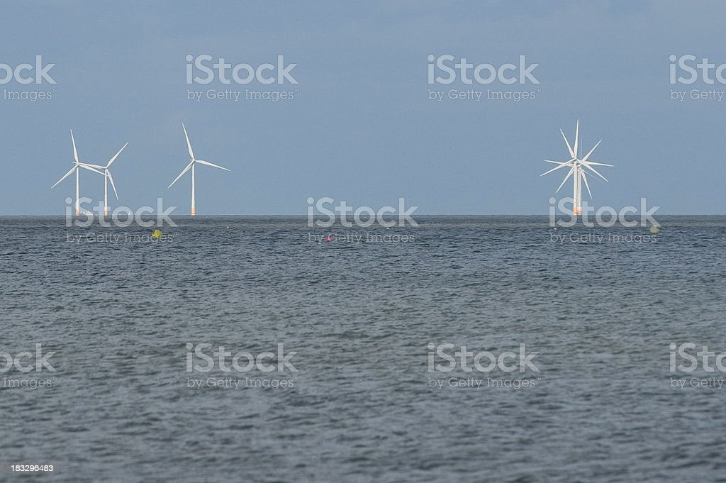 Offshore Windfarm in England royalty-free stock photo