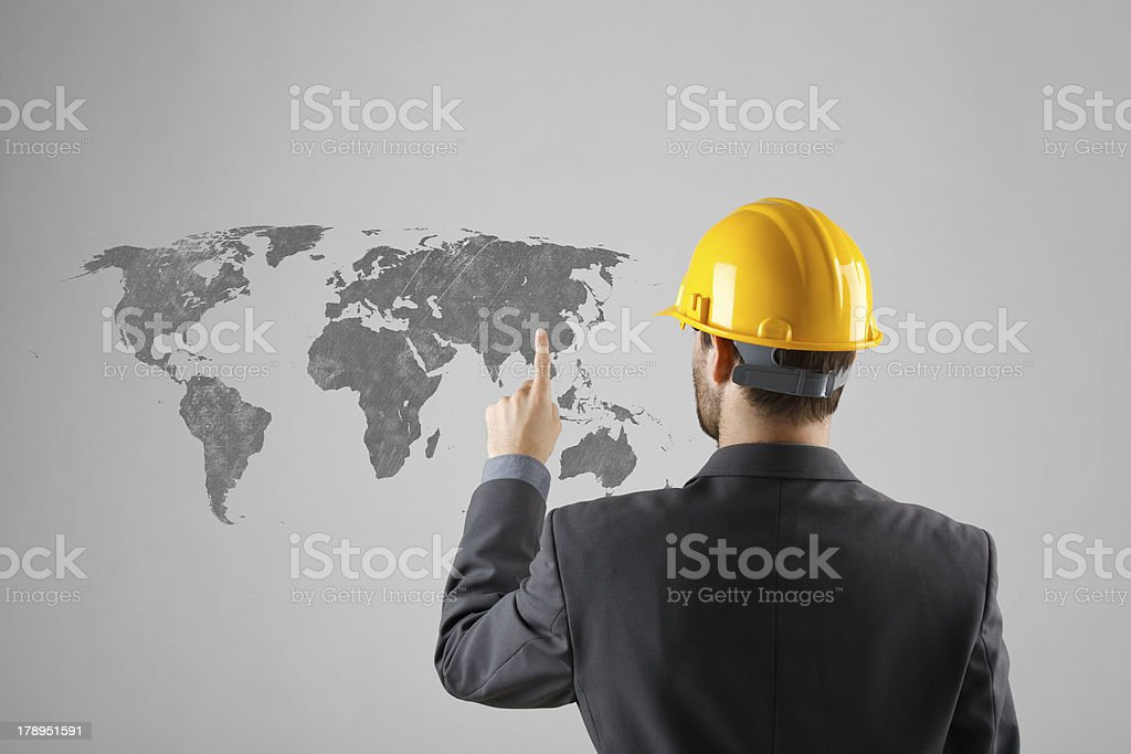 Offshoring concept royalty-free stock photo