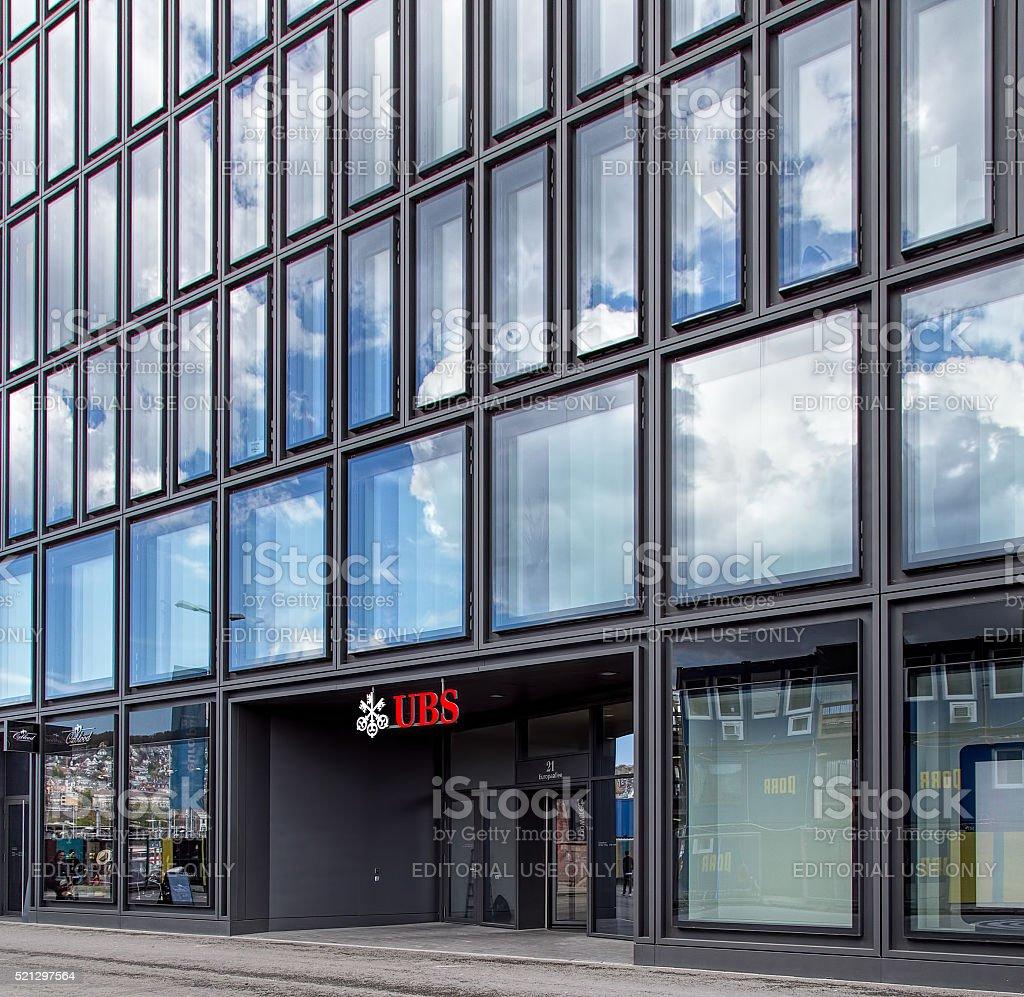 UBS Ofice on Europaallee street in Zurich stock photo