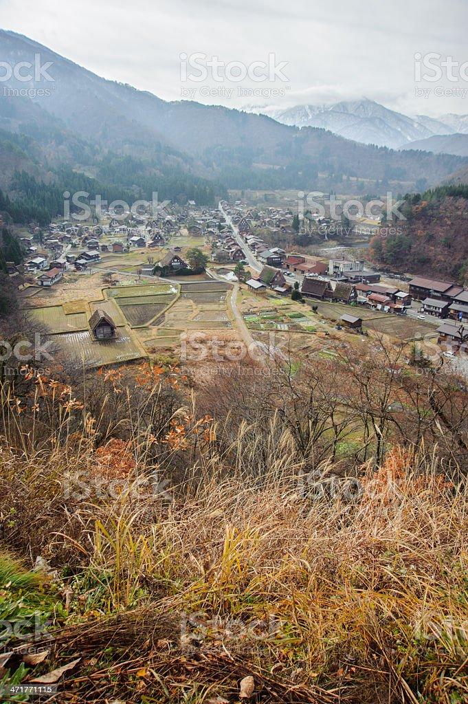 Ogimachi Village in Shirakawago royalty-free stock photo