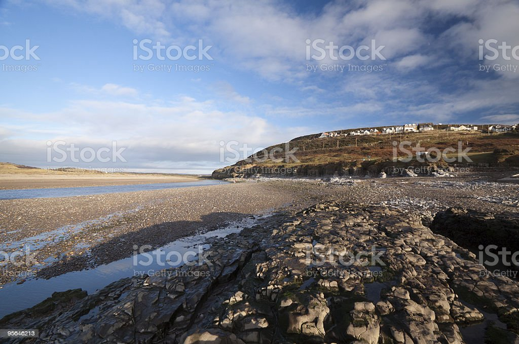 Ogmore-by-Sea in the Vale of Glamorgan, Wales royalty-free stock photo