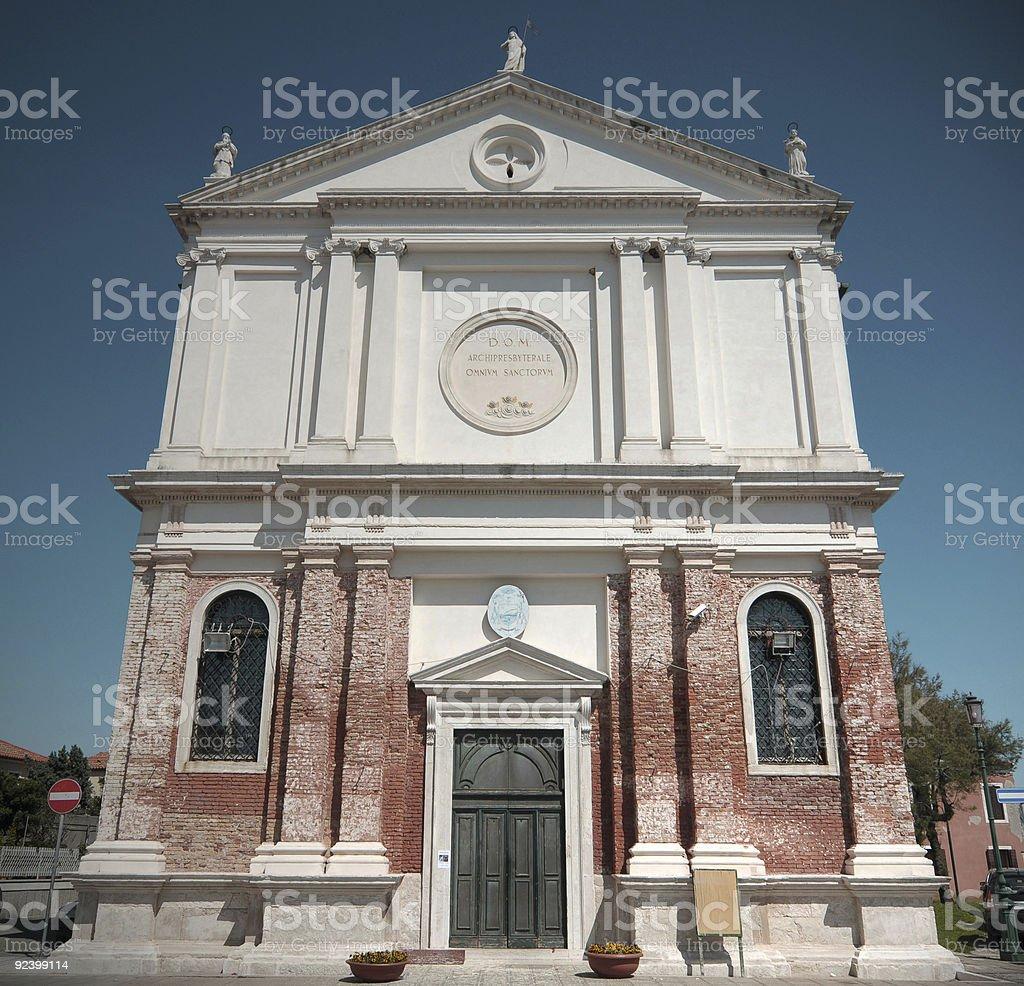 Ognissanti church in Pellestrina royalty-free stock photo