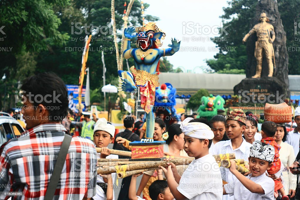 Ogoh-Ogoh parade stock photo
